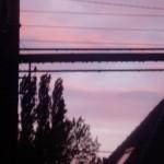 coucher de soleil par ma fenêtre