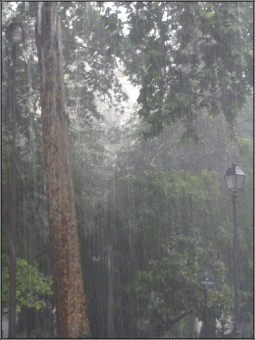 Déluge à Paris en juillet