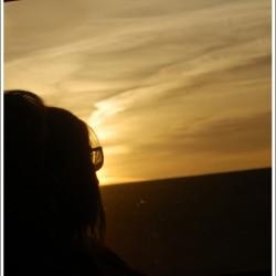 Lever de soleil dans le train