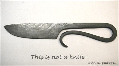 Couteau = knife